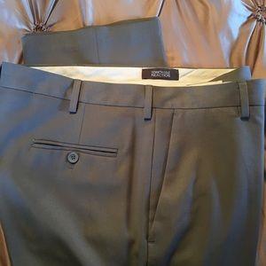 MENS KENNETH COLE GRAYISH/OLIVE DRESS PANT